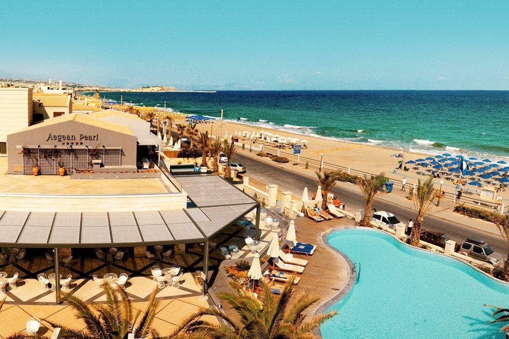 Beach road rethymnon crete crete greece
